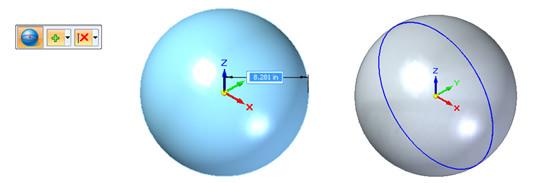 Figuras primitivas en Solid Edge - Esfera