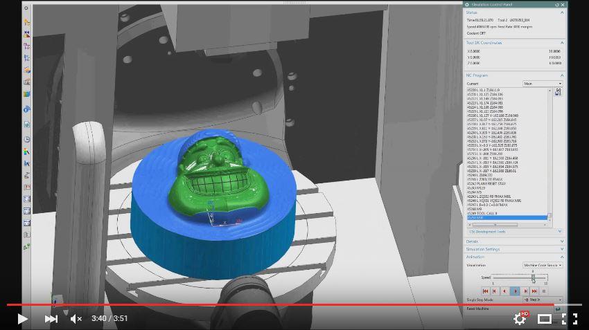 151222_NX CAM-Simulacion Sobre Codigo G en 5 Ejes