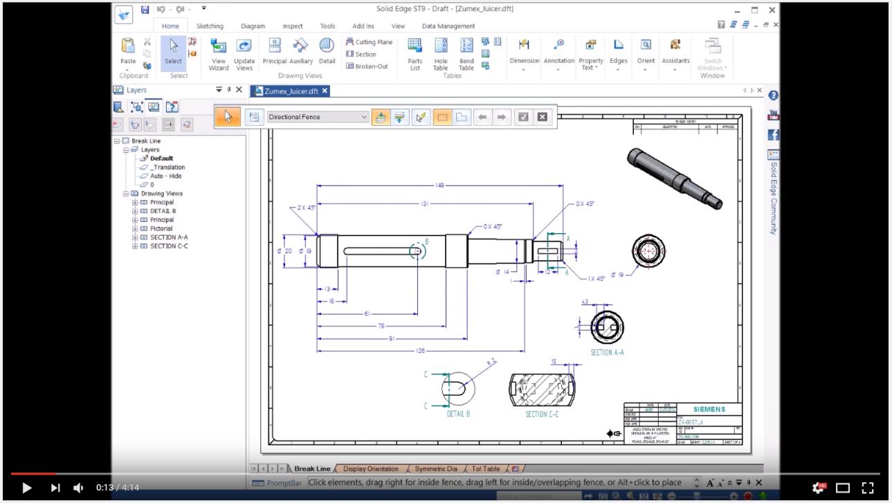 160913_Mira las funciones nuevas en el entorno plano de Solid Edge ST9