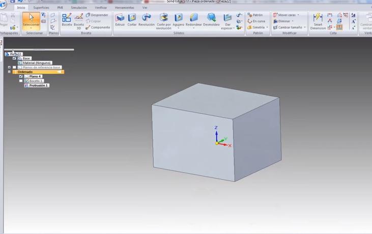 Cómo crear dos mitades de un molde desde una pieza núcleo con Solid Edge ST7.