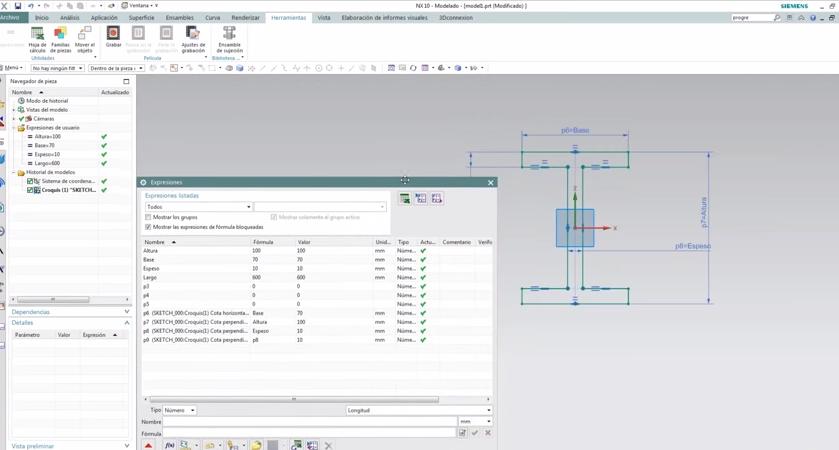 Cómo Crear un plantilla de un modelo paramétrico con NX10