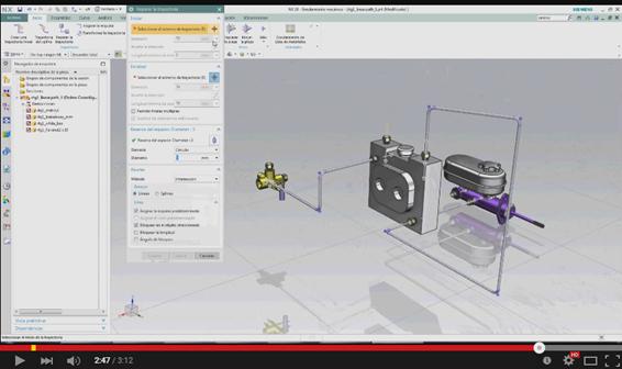 Como trazar fácilmente trayectorias de tuberías en NX 10