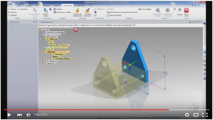 Solid Edge- Dimensiones y listado de materiales